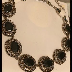New!! Black Crystal Statement Necklace !!